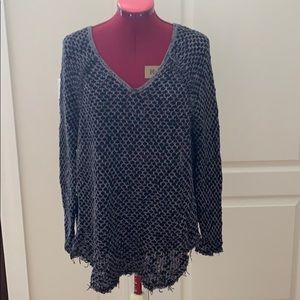 Free people v-neck tunic sweater